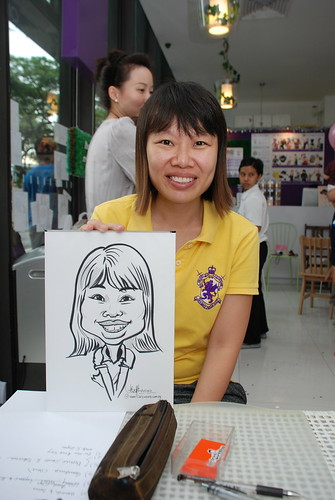 caricature live sketching for birthday party - 12