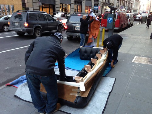 Moving a couch, Manhattan
