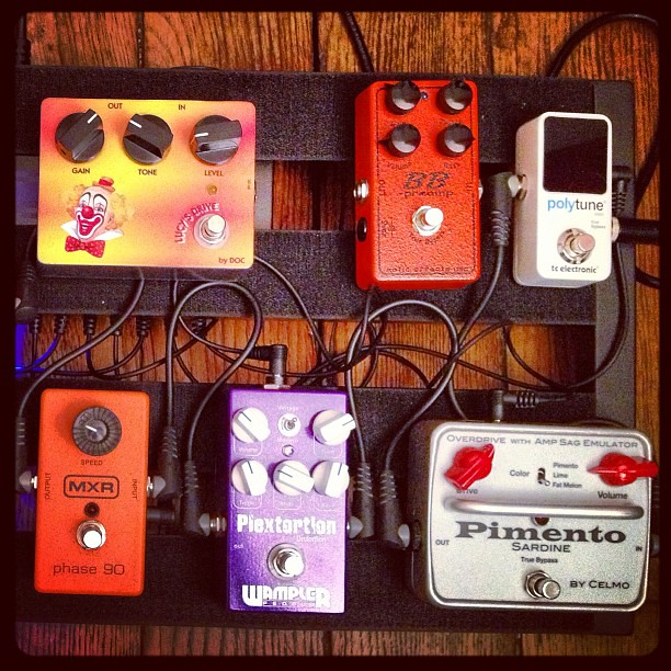 Photo:Going from one overdrive/saturation pedal to the other : the story of tone ! #gear By Pierre Journel