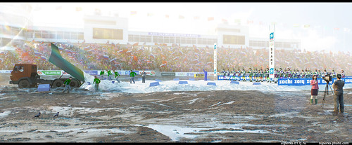 Sochi 2014 no snow. Biathlon. Vitaly Mutko nightmare.