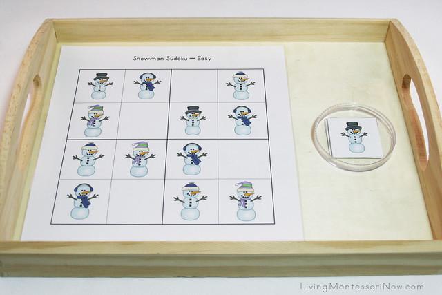 Snowman Sudoku Tray