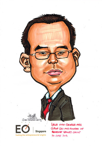 caricature for EO Singapore - George Ang