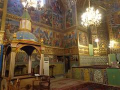 Interior da Catedral Vank em Isfahan