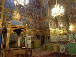 The painted interior of Vank Cathedral in Isfahan