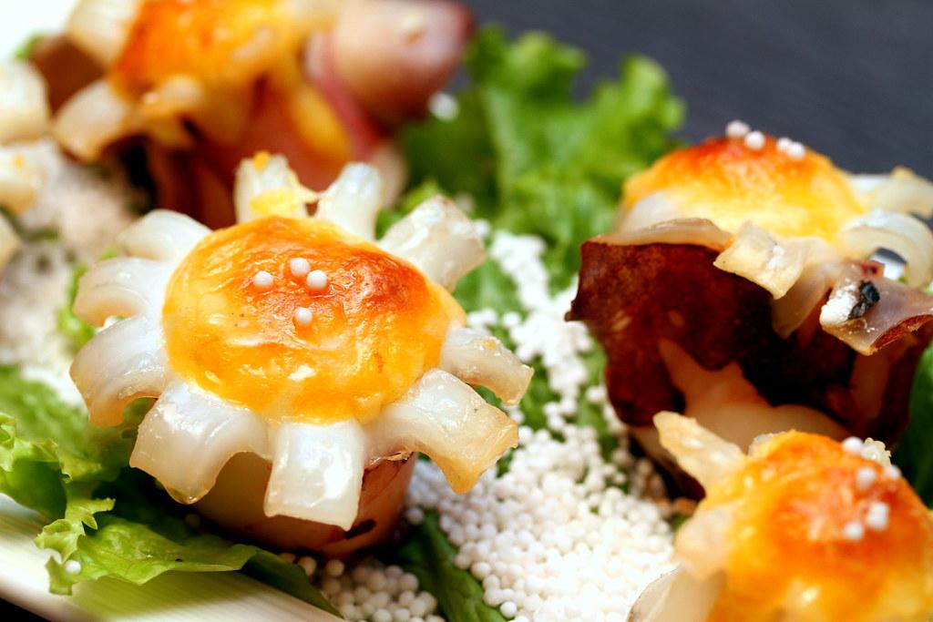 全火锅:奶酪片烤章鱼