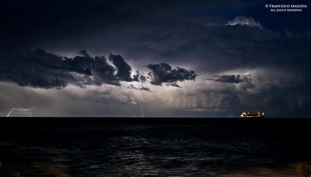 Majestic storm on the horizon