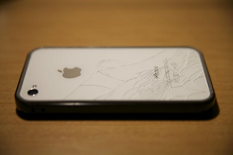 2013-01-23 iPhone4Sが割れた