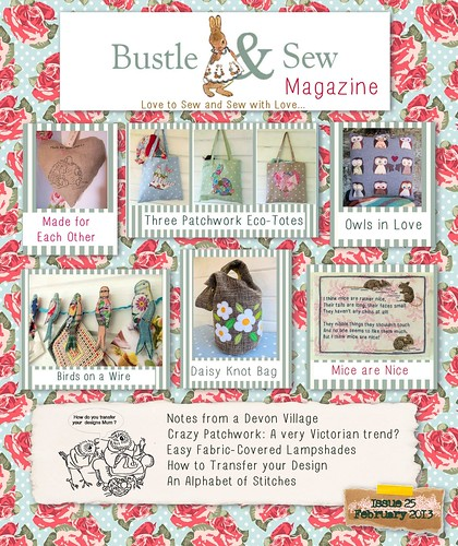 Bustle & Sew Magazine Cover