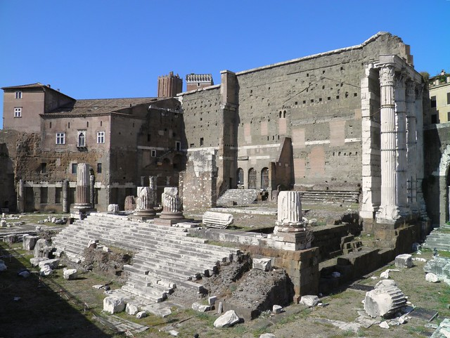 Remains of Forum of Augustus with the Temple of Mars Ultor (Mars the Avenger), Imperial Forums, Rome