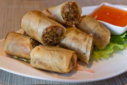 Vegetarian Thai Spring Rolls at Thai Basil (Toronto)