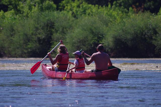 Descente en canoës sur la Dordogne en Pays de Bergerac