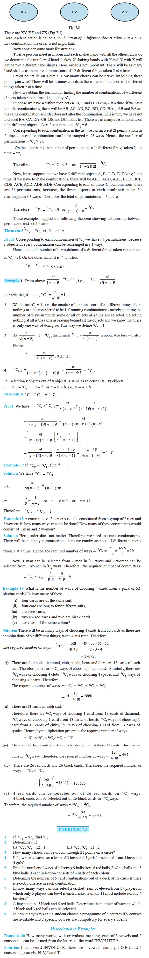 NCERT Class XI Mathematics Chapter 7 – Permutations and Combinations