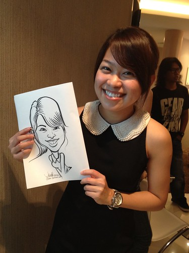 caricature live sketching for Orchard Scotts Dental for Miss Universe Singapore - 7
