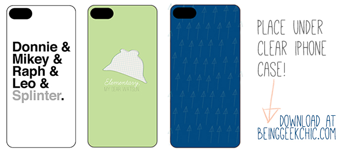 Clear iPhone 5 case? Printable freebies to jazz it up!