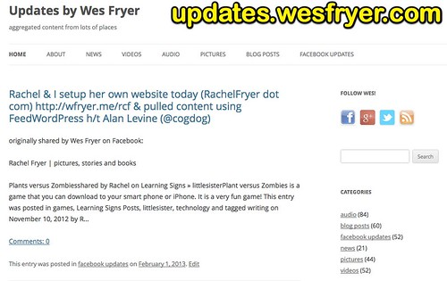 Updates by Wes Fryer | aggregated content from lots of places
