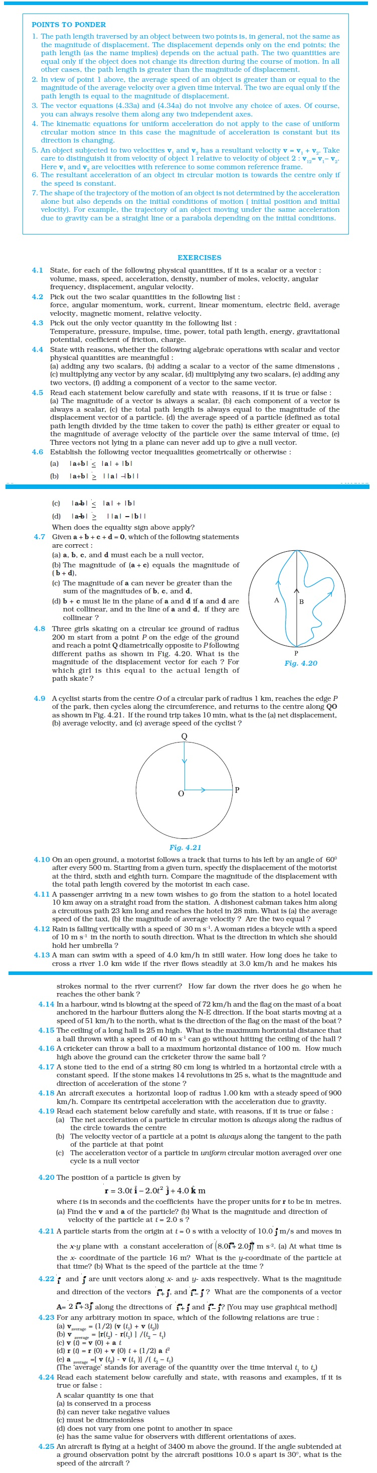 NCERT Class XI Physics Chapter 4 – Motion in A Plane