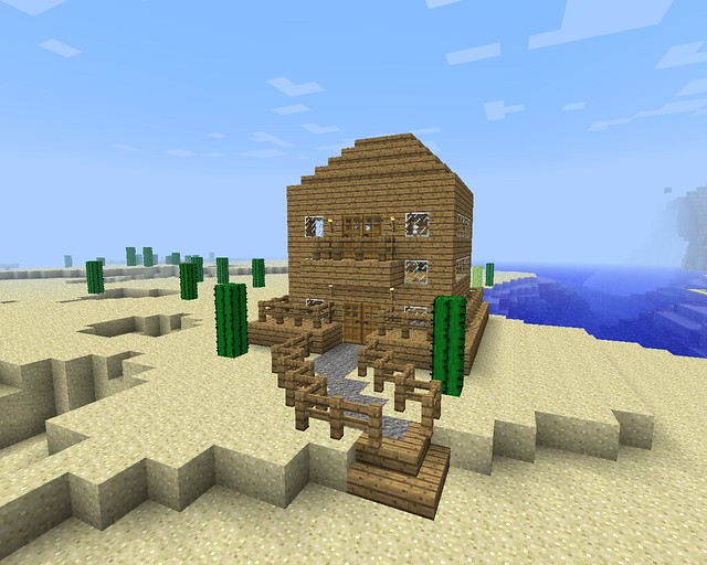 Minecraft how to build a simple pirate ship