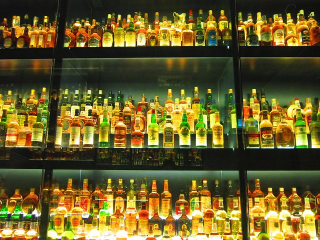 Display of Scottish whisky, Edinburgh