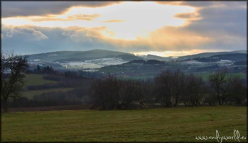 winter sunset sky holiday snow nature clouds landscape tour view eu tourist czechrepublic cz bohemia ceskarepublika southbohemia českárepublika jižníčechy jiznicechy hoštice hostice slunceseno