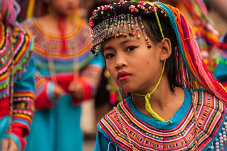 Beautiful Traditional Costumes, Chiang Mai Flower Festival 2013
