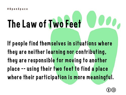 The Law of Two Feet #openspace