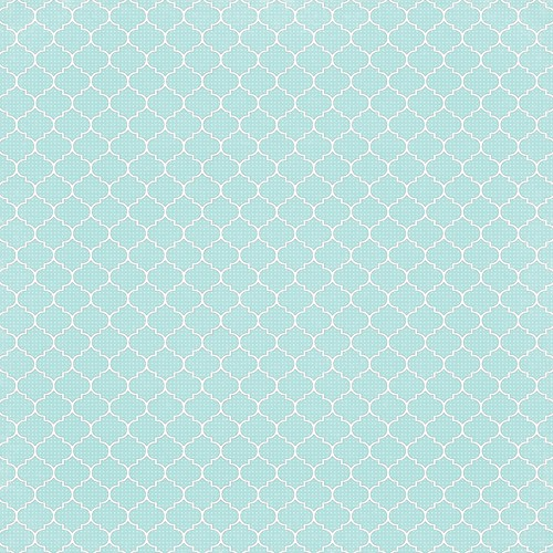 6 Light Turquoise Dotted Moroccan Tile - free printable digital patterned paper