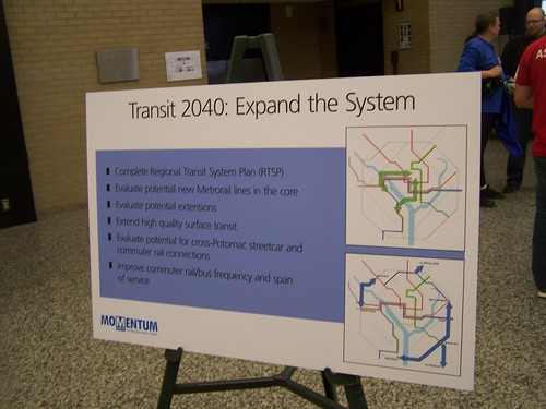 WMATA Momentum Plan, presentation board, Transit 2040 expand the system