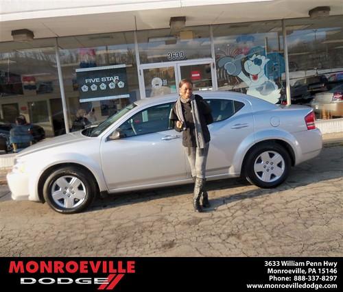 Congratulations to Lynda Johnson-Alexander on the 2013 Dodge Avenger by Monroeville Dodge