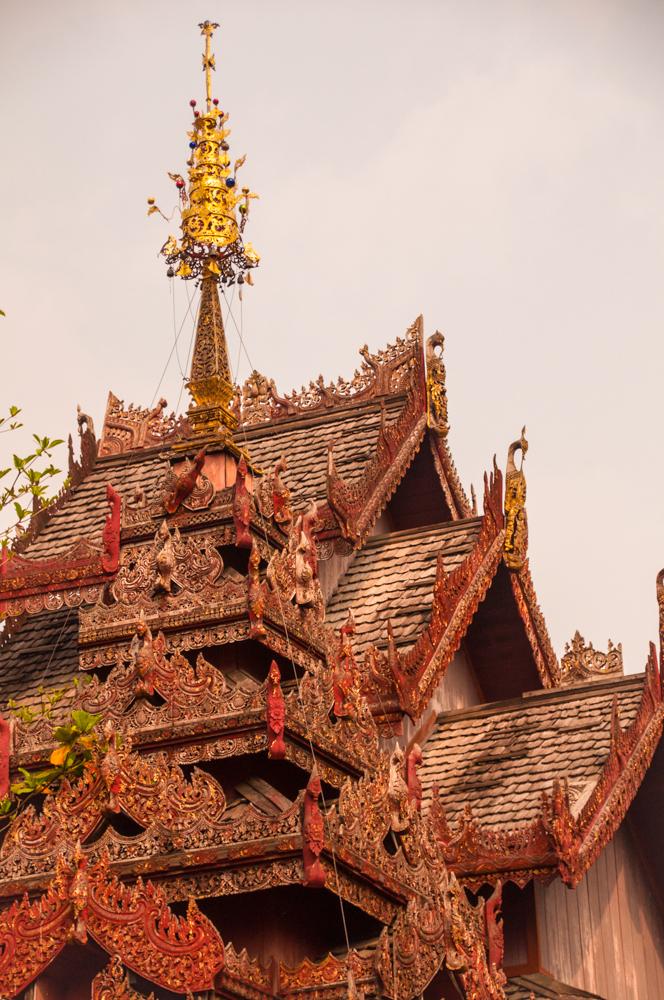 Teak Temple at Wat Pa Pao