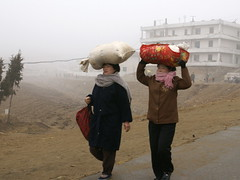 Ladies carrying goods, Pongchon County