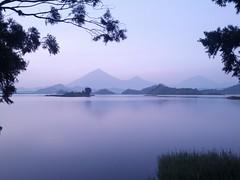 Dawn at Lake Mutanda