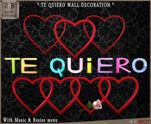 FREE GROUP GIFT - *RnB* Te Quiero Wall Decoration - Group Gift