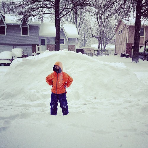 This KC snow is legit, it buried Andria's car completely. The snow in Buffalo has never buried Andria's car.