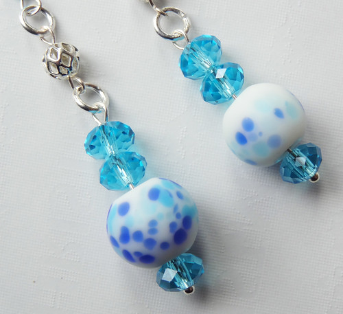 Blue Dangle Earrings 01