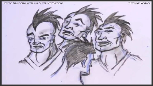 learn how to draw characters in different positions 035