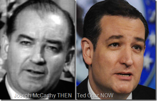 Daily Kos: Ted Cruz Communist Slurs Not New - He Is The New McCarthy