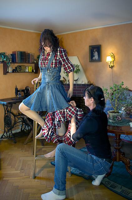 89) Create a new skirt