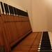 Orgel bankje met onderdelen uit de Broederenkerk Deventer