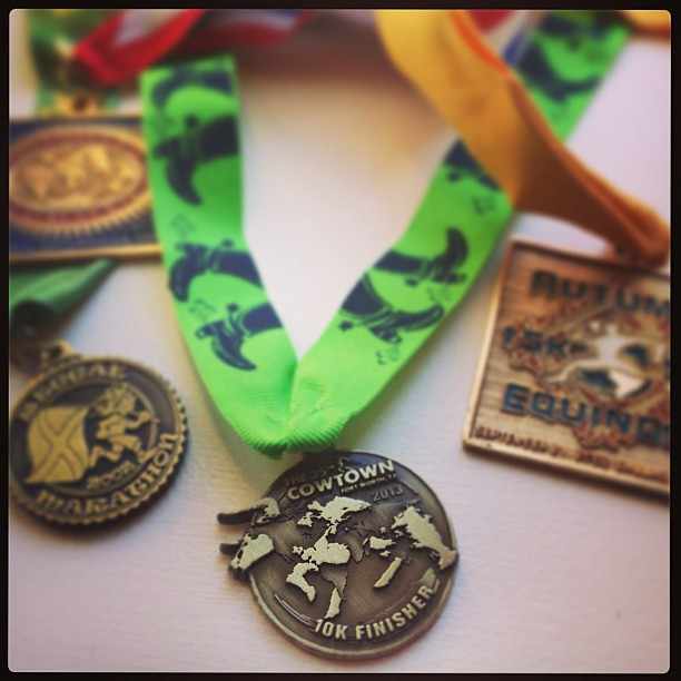 Yesterday's medal.  I really should find a better way to keep these than in a pile on a bookshelf...