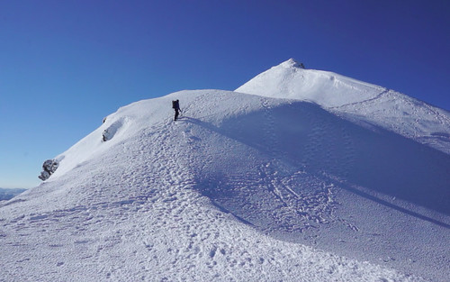 Approaching the summit of Meall Garbh