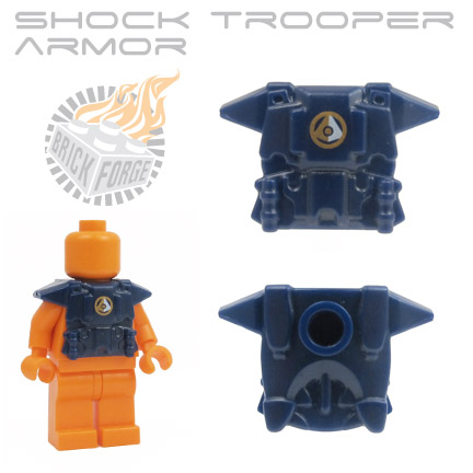 Shock Trooper Armor - Dark Blue (gold & white space intel emblem)