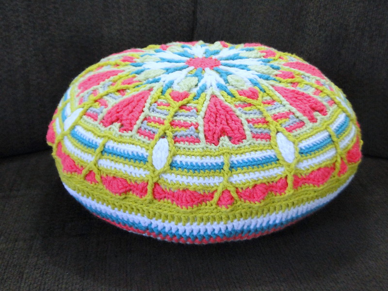 mandala turned pillow