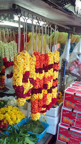 garlands in Little India