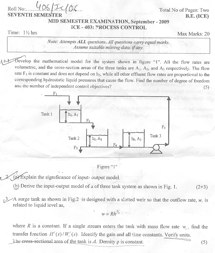 NSIT: Question Papers 2009 – 7 Semester – Mid Sem – IC-403