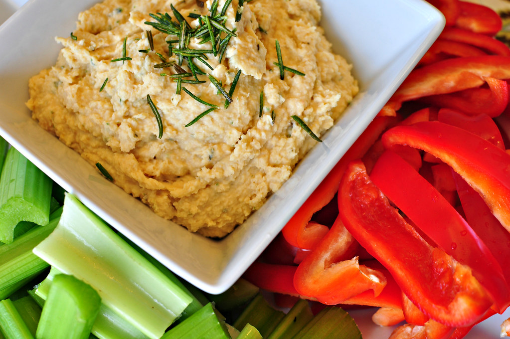 Crispy Rosemary Hummus {Lightened Up} - Meg's Everyday ...