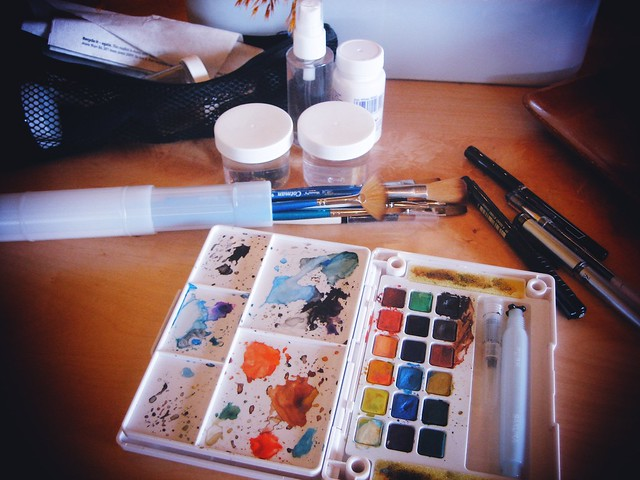 My Water color kit open