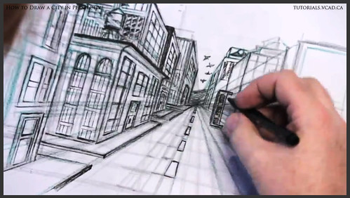 learn how to draw city buildings in perspective 032