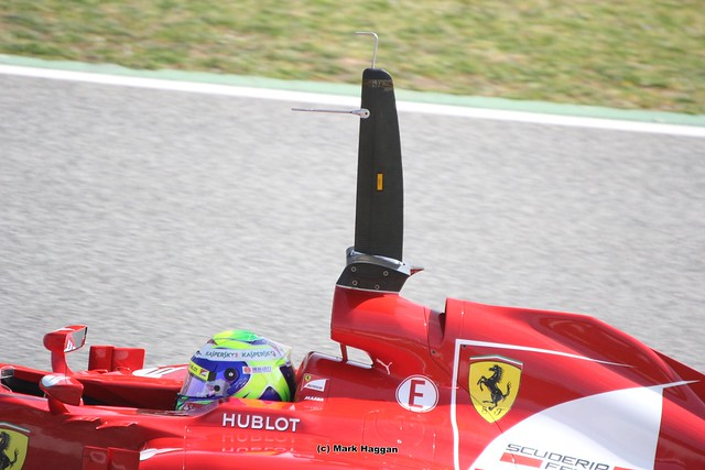 "The ""Periscope"" on Felipe Massa's Ferrari at Formula One Winter Testing 2013"