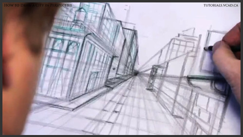 learn how to draw city buildings in perspective 015