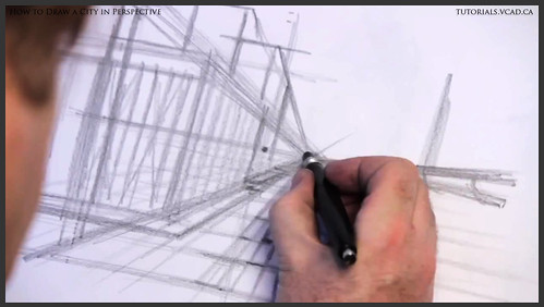 learn how to draw city buildings in perspective 007